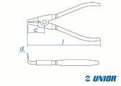 166mm UNIOR Sicherungsringzange 534PLUS/1DP außen, gebogen (1 Stk.)