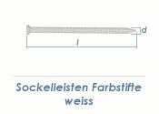 1,75 x 32mm Sockelleisten Farbstift weiss (100 Stk.)
