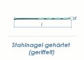 3,5 x 50mm gehärtete Stahlnägel geriffelt verzinkt (100 Stk.)