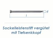 1,4 x 35mm Sockelleistenstifte vergütet Stahl blank (100 Stk.)
