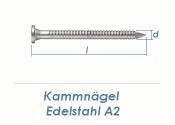 4 x 50mm Kamm Nägel Edelstahl A2 (10 Stk.)
