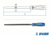 250mm UNIOR Vierkantfeile Schlicht (Fein) mit 2-K Griff...