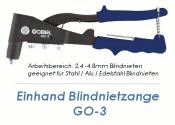 2,4 - 4,8mm Einhand Blindnietzange GO-3 (1 Stk.)