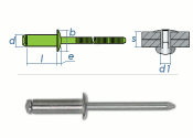 4,8 x 12mm Blindniete Edelstahl A2 DIN7337 (10 Stk.)
