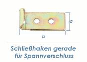 30 x 12mm Schließhaken gerade gelb verzinkt (1 Stk.)