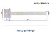 391 x 40mm Kreuzgehänge schwer gelb verzinkt (1 Stk.)