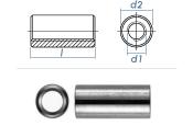 M8 x 50mm Gewindemuffe rund Edelstahl A2 (1 Stk.)