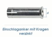 M6 Einschlaganker mit Kragen verzinkt (10 Stk.)
