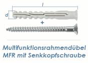 8 x 80mm Multifunktionsrahmendübel inkl. TX30...