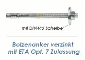 M8 x 85mm Bolzenanker verzinkt - ETA Opt. 7 (1 Stk.)