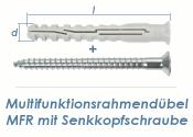 10 x 100mm Multifunktionsrahmendübel inkl. TX40...