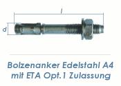 M12 x 103mm Bolzenanker Edelstahl A4 - ETA Opt. 1 (1 Stk.)