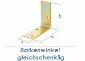 150 x 150 x 40mm Balkenwinkel gelb verzinkt (1 Stk.)