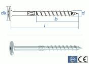 10 x 320mm Konstruktionsschrauben Tellerkopf TX verzinkt...