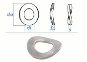 5,3mm Federscheiben gewellt DIN137B Edelstahl (100 Stk.)