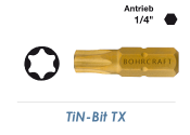 TX20 TiN-Bit  Bohrcraft 25mm lang (1 Stk.)