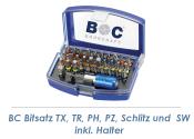 TX, PH, PZ, Schlitz, SW Bitsatz + Halter 32-teilig Bohrcraft (1 Stk.)