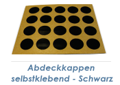 13mm Abdeckkappe selbstklebend schwarz (1Pkg zu 20Stk.)