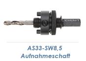 AS33-SW8,5 Aufnahmeschaft für Bi-Metall...