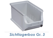 150 x 235 x 125mm Stapelsichtbox Gr.3 grau (1 Stk.)