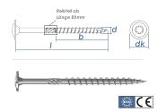 6 x 260mm Holzbauschrauben BMax Tellerkopf TX verzinkt (1...