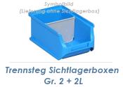 Trennstege für Stapelsichtbox Gr.2 + 2L grau (1 Stk.)