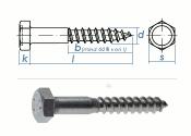8 x 80mm Sechskant-Holzschrauben DIN 571  Edelstahl A2 (1...