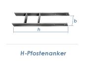 101 x 600mm H-Pfostenträger verzinkt (1 Stk.)
