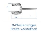 60-140mm U-Pfostenträger Breite verstellbar...