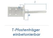 90mm T-Pfostenträger einbetonierbar (1 Stk.)
