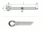 3,2 x 50mm Splint DIN94 Edelstahl A2  (10 Stk.)