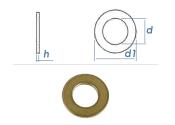 10,5mm Unterlegscheiben DIN125 Messing (10 Stk.)