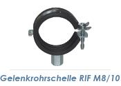"""15-19mm (3/8"""") Gelenkrohrschellen M8/M10  (1 Stk.)"""