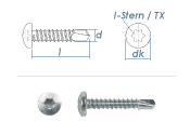 3,9 x 25mm Bohrschrauben Linsenkopf TX DIN7504 Stahl...