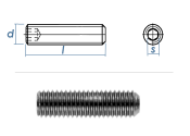 M6 x 10mm Gewindestift Kegelkuppe DIN913 Edelstahl A2...