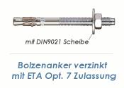 M12 x 220mm Bolzenanker verzinkt - ETA Opt. 7  (1 Stk.)