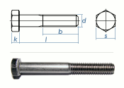 M16 x 65mm Sechskantschrauben DIN931 Teilgewinde...