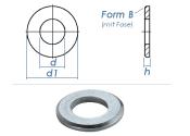 6,4mm Unterlegscheiben DIN125 Form B Stahl verzinkt (100...