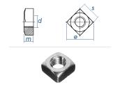 M10 Vierkantmuttern DIN557 Stahl verzinkt FKL5 (10 Stk.)