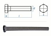 M8 x 14mm Sechskantschrauben DIN933 Vollgewinde Edelstahl...