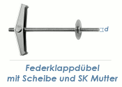 M4 Federklappdübel m. Gewindestange (1 Stk.)