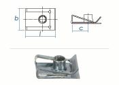M5 Schnappmutter Stahl verzinkt (1 Stk.)