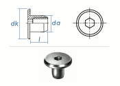 M6 x 9 x 12mm Rundmutter Rampa® RF verzinkt  (1 Stk.)