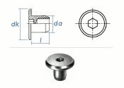 M6 x 10 x 15mm Rundmutter Rampa® RFL verzinkt  (1 Stk.)