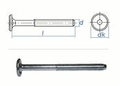 M6 x 40mm Zylinderkopfschrauben SW4 verzinkt (10 Stk.)