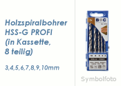 Holzspiralbohrersatz HSS-G Profi  8 teilig  3-10mm (1 Stk.)