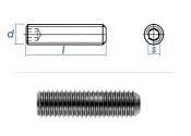 M10 x 10mm Gewindestift Kegelkuppe DIN913 Edelstahl A2...
