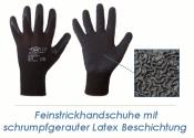 Feinstrickhandschuhe Latex schwarz Gr. 8 (M) (1 Stk.)