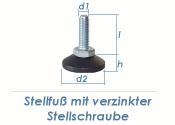 M10 x 50mm Stellfuß mit drehbarem Fuß (1 Stk.)