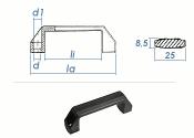 136 x 25 x 42mm verstärkter PA Kunststoffgriff  Form B  (1 Stk.)